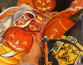Vintage Halloween Dennison Gummed Seals N0 9