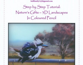 Step by Step Art Tutorial - 3Dimensional landscapes in Coloured Pencil