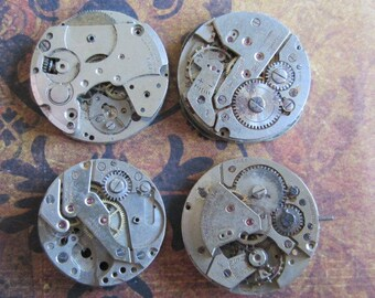 Steampunk watch parts - Vintage Antique Watch movements Steampunk - Scrapbooking h7