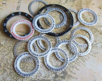 Vintage  Watch parts number date rings- Steampunk - Scrapbooking o54