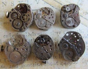 Featured - Steampunk supplies - Watch movements - Vintage Antique Watch movements Steampunk - Scrapbook m94