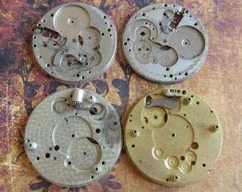 Vintage Antique Watch movements parts Steampunk - Scrapbooking d99
