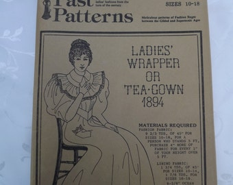 Victorian Ladies Wrapper or Tea Gown 1894 Gown  Past Patterns Historic Clothing Pattern  Fig. 211