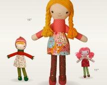 "Doll Pattern: ""Elsa""  a cloth doll PDF sewing pattern"