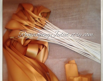 Instead of Rice Jumbo Ribbon Streamer Sticks..PACK OF 50...You choose the Ribbon Color..shown in gold