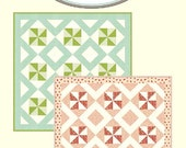 SPRING SALE - Baby Boy Quilt Kit - Cuddle Me baby quilt pattern and Hello Darling fabric by Cotton Way