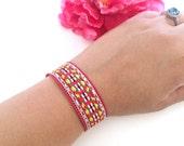friendship bracelet - boho-chic woven bracelet - bohemian style bracelet - women's jewelry - best friends bracelet - one size fits all