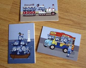 SALE: 6 X Blue Band Greeting Card