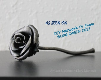 Iron gift for her, Iron rose, steel rose,  gift for girlfriend, iron anniversary, 6th anniversary