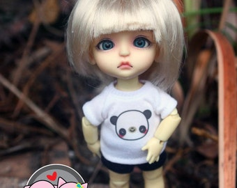 B317 - Lati Yellow / pukifee Outfits - T-shirt  and short pants.