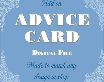 Advice Card - Printable Digital File