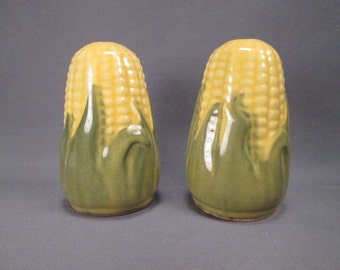 Shawnee Pottery Corn King Salt and Pepper Shakers - Smaller Table Size