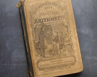 1857 Ray's Practical Arithmetic Antique School Book