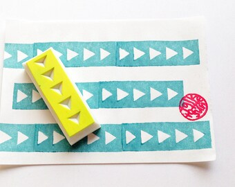 arrow washi tape stamp. geometric hand carved rubber stamp. birthday scrapbooking. christmas gift wrapping. holiday crafts. by talktothesun