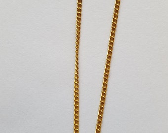 Finished Gold Curb Chain 24 Inches
