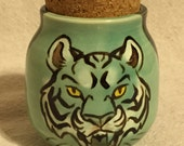 Green Tiger Stash Jar