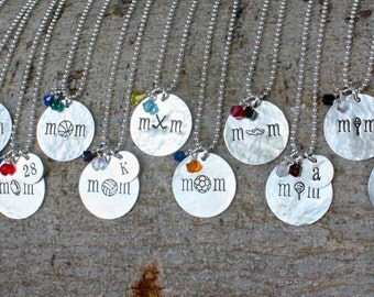Sports Mom Jewelry, Team Mom Gift Team Spirit Jewelry Sports Necklace - Lacrosse Hockey Baseball Football Basketball Volleyball Soccer Cheer