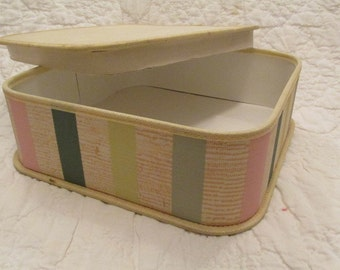 Vintage Box Koroseal B F Goodrich great storage box with cover SALE