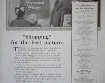 Paramount Pictures 1923 Vintage Print