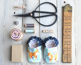 Foxy Reversible Baby Shoes