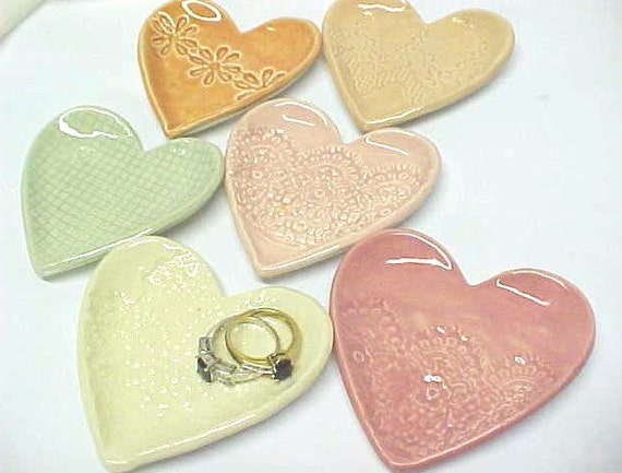 Pottery Wedding Gifts: Pottery Heart Wedding Favors Bridesmaid Gifts By