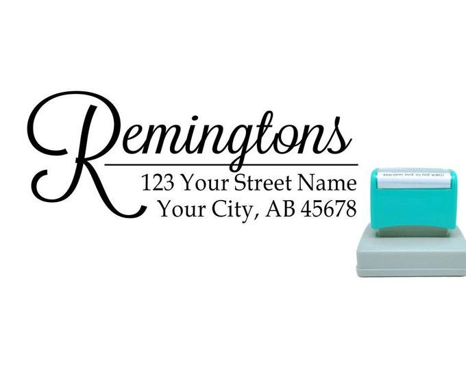 Personalized Self Inking Return Address Stamp - self inking address stamp - Custom Rubber Stamp R166