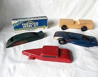 5 Boy or Cub Scout Pinewood Derby Cars 1 in Box Unused
