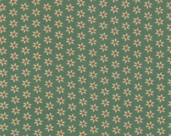 Fabric -  Honky Tonk Daisy Print on Green Background by Eric & Julie Comstock for Moda - Yardage 37086 15