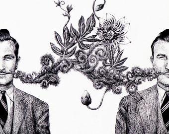 Untitled (Mustache) Fine Art Print