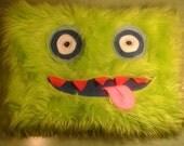 Special order **Reserved for Poorva** Green monster clutch bag.