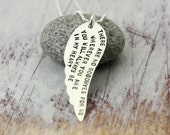 My Guardian Angel Wing Necklace - Angels - Angel Wings - Sterling Silver Hand Stamped Memorial Jewelry - Christina Guenther