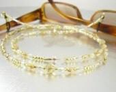 Eyeglass Leash, Eyeglass Holder - Amber, Topaz and Gold Foiled Eyeglass Lanyard