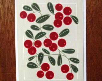 Lingonberries Note Card
