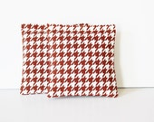 Organic Lavender Sachets, Scented Drawer Sachets, Brown and White Houndstooth