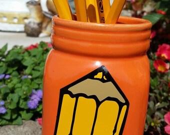 Ceramic Personalized teacher pencil holder