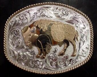 BUFFALO belt buckle