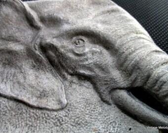 Cast Aluminum Elephant Vintage Ashtray
