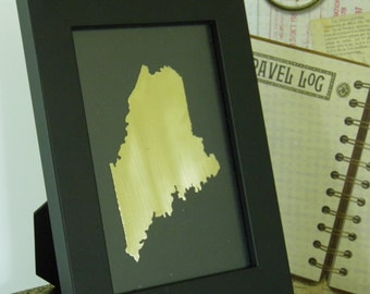 MAINE  personalized  state framed art, all fifty states available
