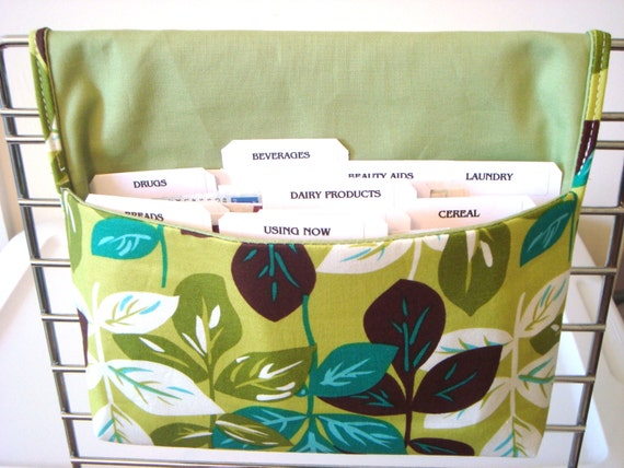 10 % OFF Coupon Organizer Holder / Budget Organizer Holder - Attaches to Your Shopping Cart - FESTA LEAVES