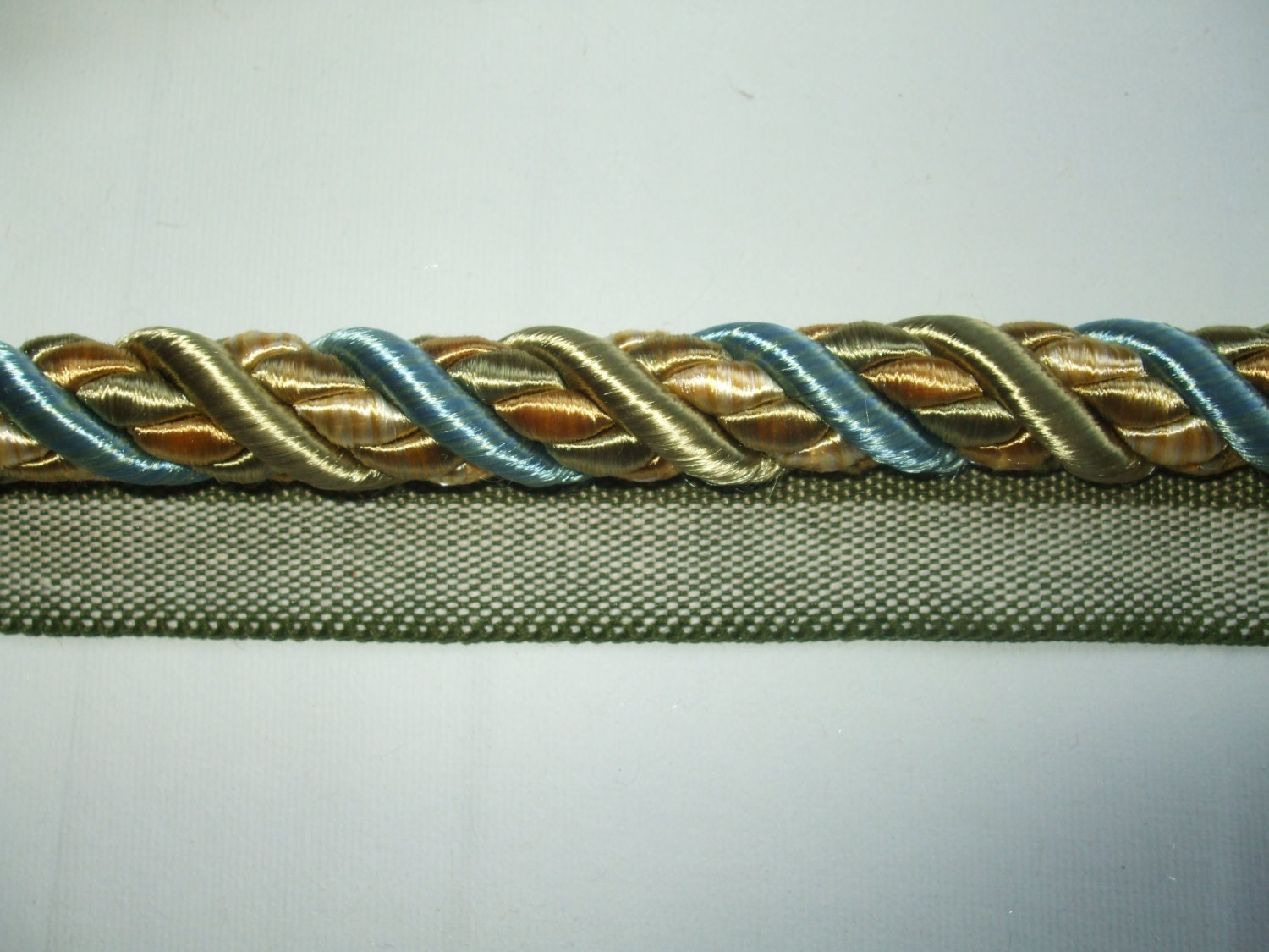 Light Blue Pale Sage Green And Pale Gold 3 8 Cord With