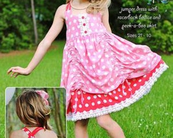 Holly Jumper Dress Sewing Pattern Sizes 2T-10 Modkid Sewing Patten