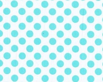 Ta Dot Polka Dots Aqua Michael Miller Fabric