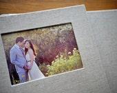 11x14 inch Custom Flush Mounted Photo Wedding Album with Book Cloth