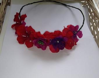 Scarlet Flower Crown