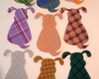Plaid Puppies Iron On Appliques