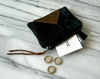 Geometric Pouch / Geometric Purse / Mini Wallet / Coin Purse / Modern Minimalist / Gifts for her / Gifts under 20 / Geometric Accessories