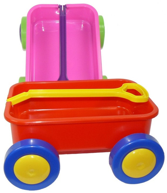 SALE - Set of 6 PLAIN Toy Carts - Pink with Green Wheels - Personalization - Holidays - Easter