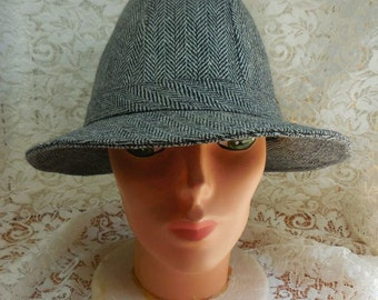 Men's Herringbone tweed hat by Highland Outfitters