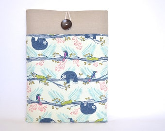 """Laptop Sleeve MacBook Air 11 Case 11.6"""" Chromebook Case Tablet Case Padded with Pocket - Sloths"""