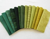 Green Hand Dyed Wool Felt in Autumn Colors, READY to Ship, 100% Wool Quilting Acres
